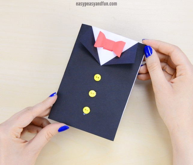 DIY Father's Day tuxedo card