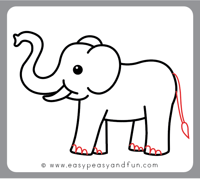 How To Draw An Elephant Step By Step Elephant Drawing Tutorial Easy Peasy And Fun