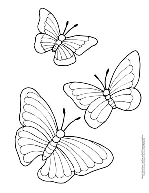 free printable butterfly coloring pages # 6