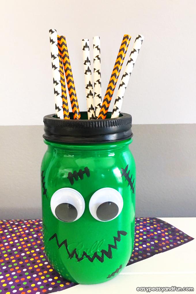 frankenstein mason jar craft