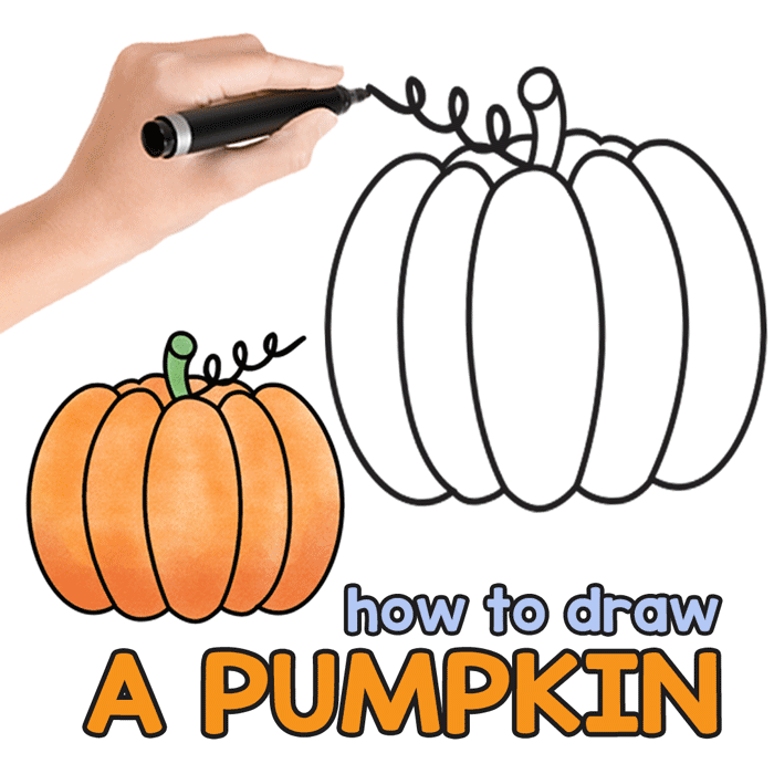 Simple pumpkin drawing (jack o lantern drawing).💚 for drawi. How To Draw A Pumpkin Easy Peasy And Fun