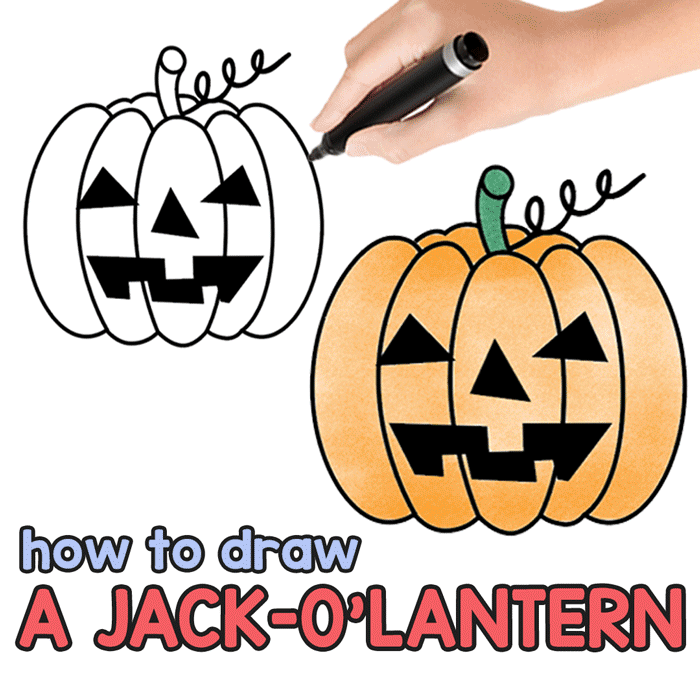 Draw, cutout and decorate your house this halloween. How To Draw A Jack O Lantern Easy Peasy And Fun