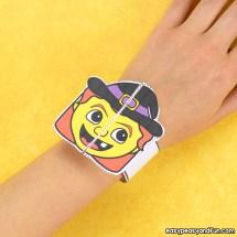Halloween Bracelets for Kids Printable Paper Bracelets