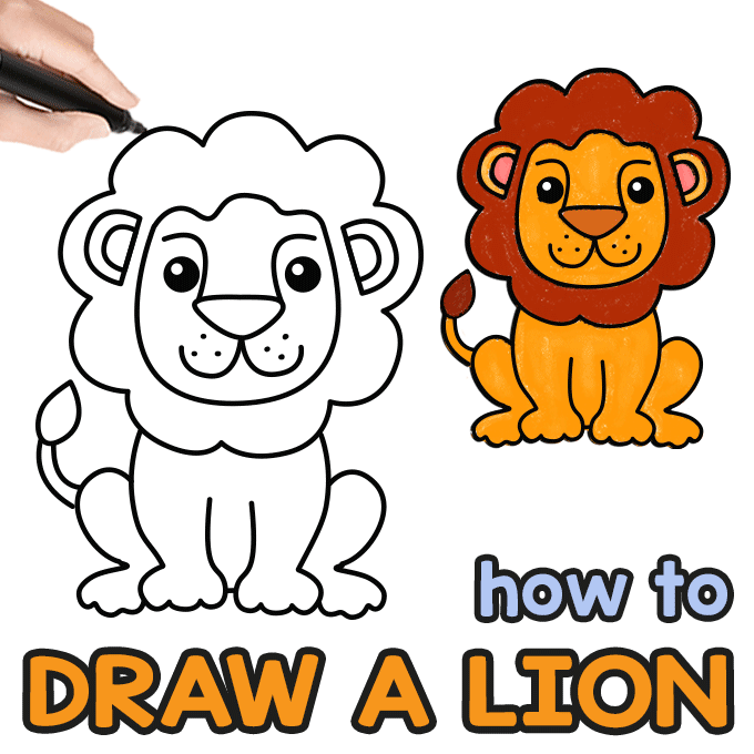 How To Draw A Lion Step By Step Drawing Guide Easy Peasy And Fun