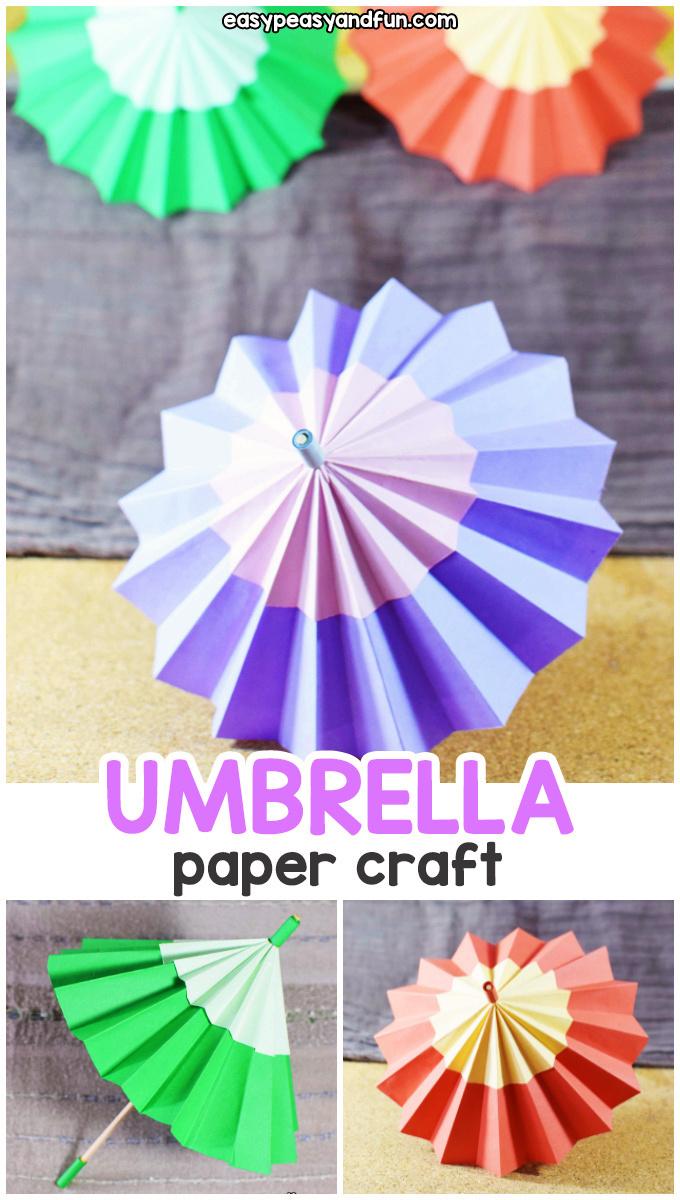 paper umbrella craft for