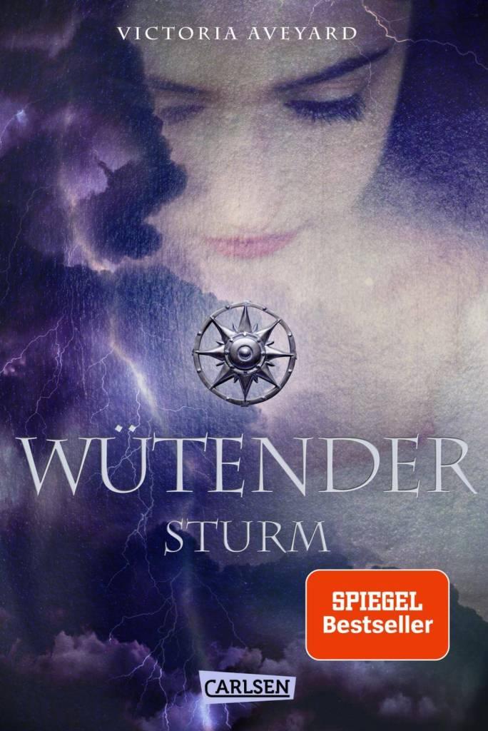 Young Adult Buch wütender Sturm von Victoria Aveyard