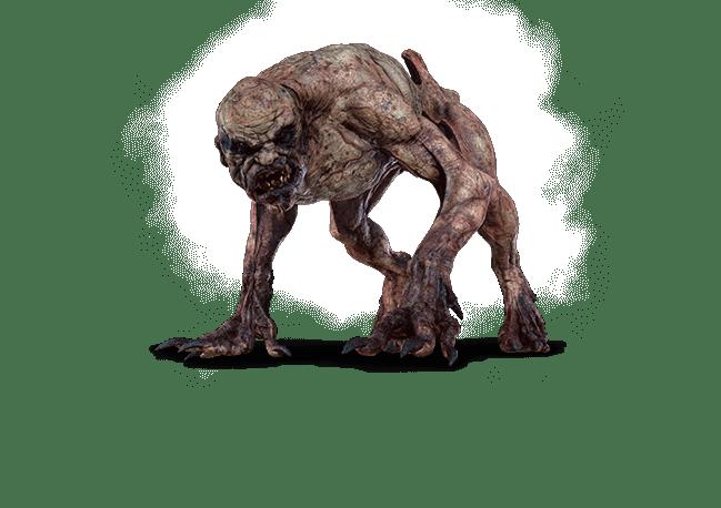 Ghul aus Witcher 3 Wild Hunt Bestiarium