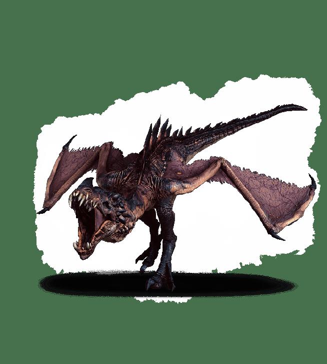 Wyvern aus Witcher 3 Wild Hunt Bestiarium