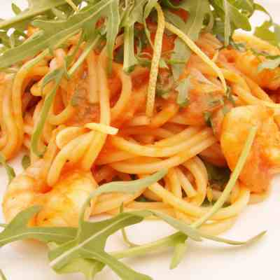 Prawn and Rocket Spaghetti