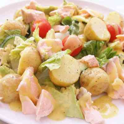 Salmon, Avocado and Potato Salad
