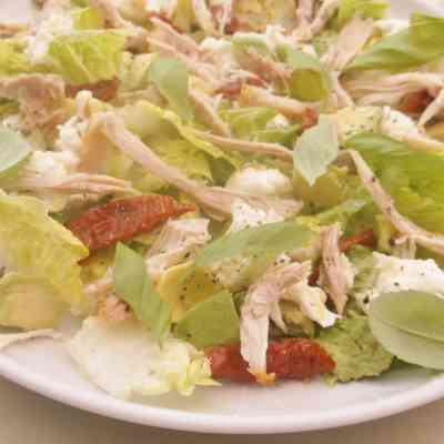 Leftover Chicken, Avocado and Mozzarella Salad