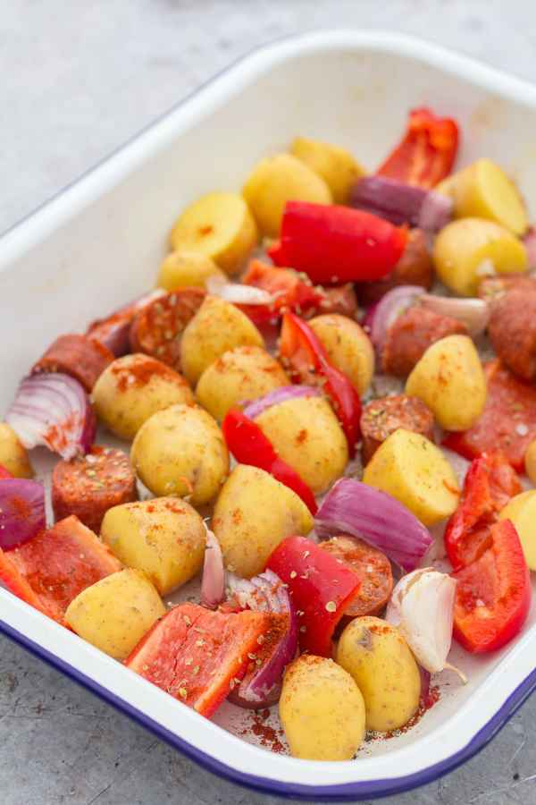 Spanish Style Chicken Traybake