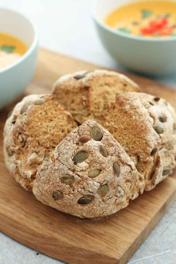 Pumpkin Seed and Rye Soda Bread