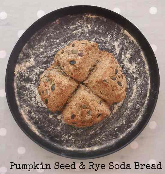 Pumpkin Seed and Rye Bread 3 with text