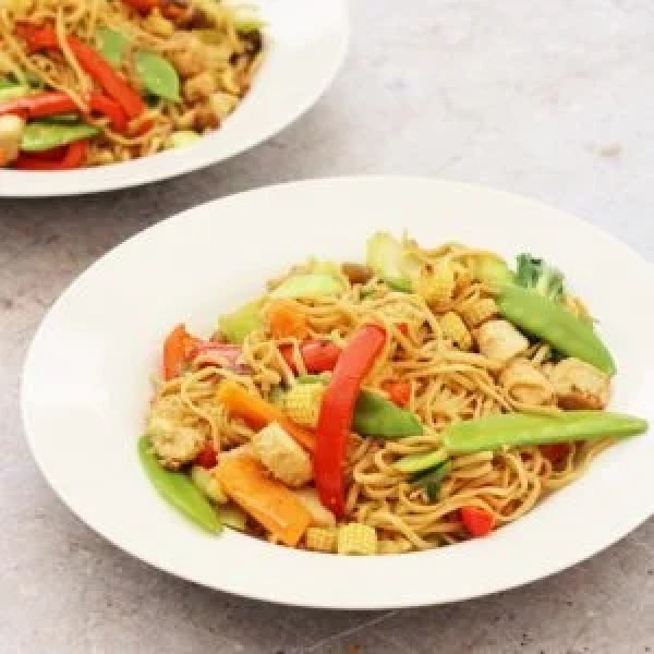 Easy Quorn Stir Fry with Noodles