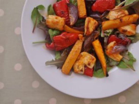 Warm Butternut Squash, Harissa and Halloumi Salad 4