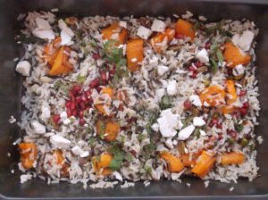 Warm Christmas Rice Salad 4