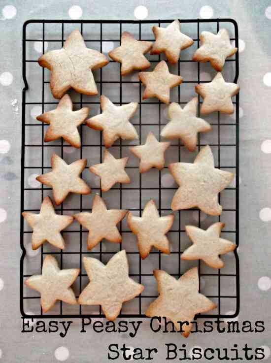 Easy Peasy Christmas Star Biscuits 10 with text