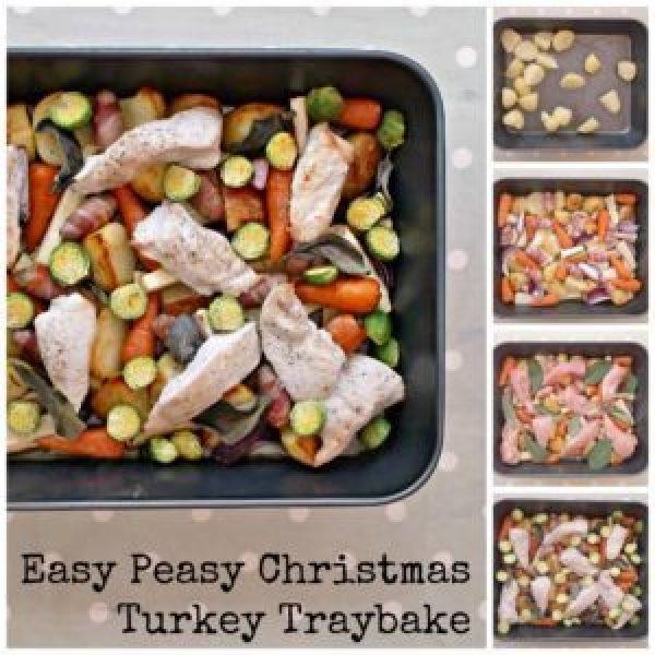 Easy Peasy Christmas Turkey Traybake Collage 6
