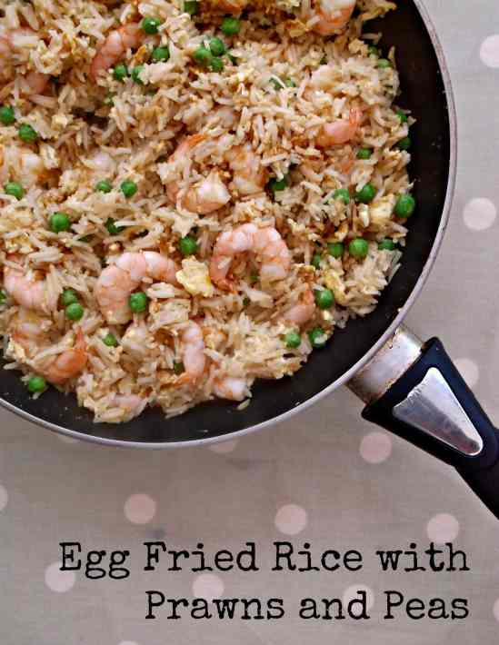 Egg Fried Rice with Prawns - This version of egg fried rice is such a simple and quick dish to make – a great one to do on a busy midweek night when you haven't got much time.