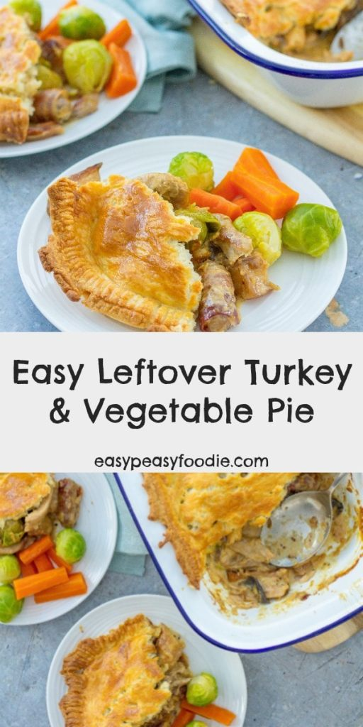 This easy leftover turkey and vegetable pie makes use of all the things you are likely to have left over on Boxing day: roast  turkey, a mixture of cooked vegetables, gravy and a bit of cream