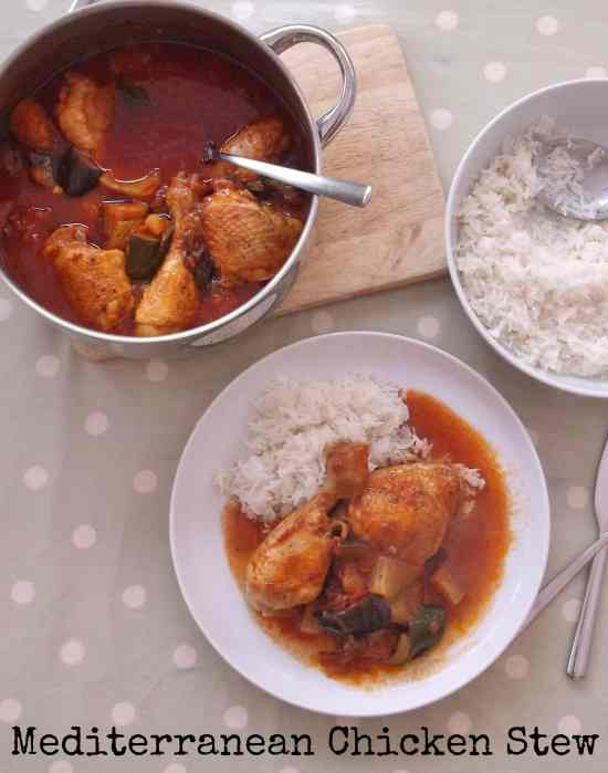 This simple Mediterranean Chicken Stew can be made on the hob in under an hour and needs very little attention once it has got started, perfect for busy weekday evenings.