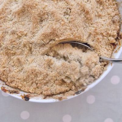 Mincemeat and Apple Crumble
