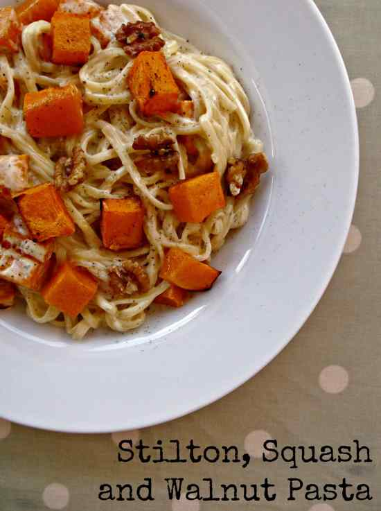 Delicious, vegetarian pasta dish. A great way to use up any leftover stilton and walnuts you may have after Christmas.