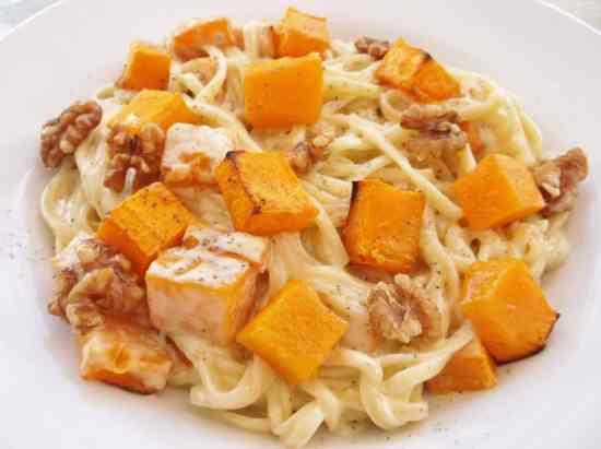 Stilton Squash and Walnut Pasta