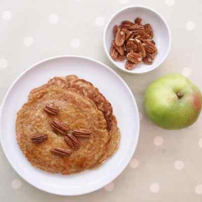 Bramley Apple Breakfast Pancakes with Maple Roasted Pecan Nuts