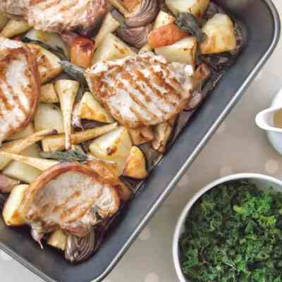 Pork, Parsnip and Apple Traybake
