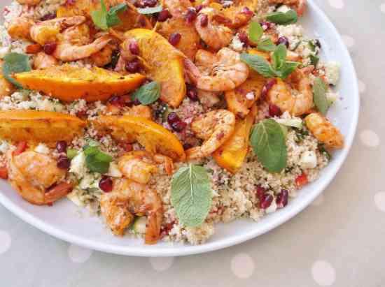Jamie Oliver's Sizzling Moroccan Prawns
