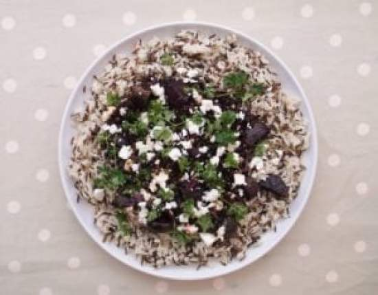 Lentil, Beetroot and Feta Salad