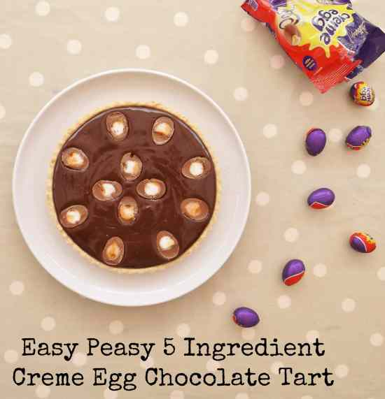 Easy Peasy 5 Ingredient Creme Egg Chocolate Tart