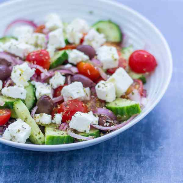 Greek Style Lamb Traybake Kleftiko and Greek Salad