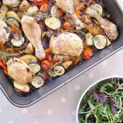 Very Easy Mediterranean Chicken Traybake