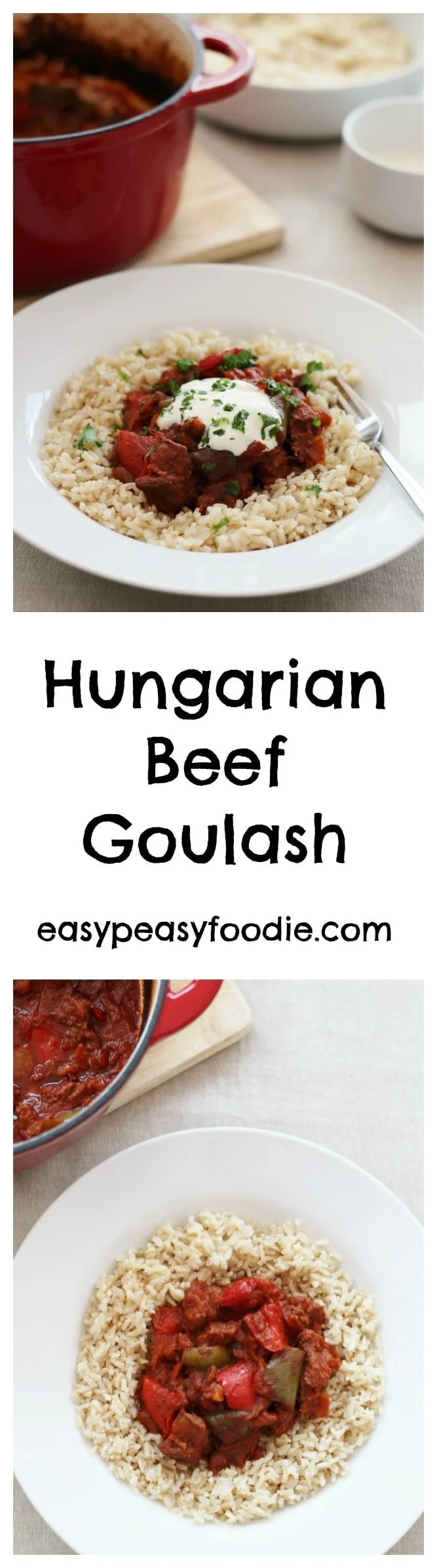Hungarian Beef Goulash - Easy Peasy Foodie