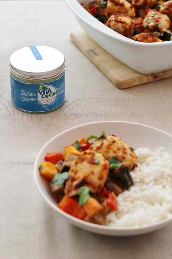 Thai Chicken Traybake with Vita Coco Coconut Oil