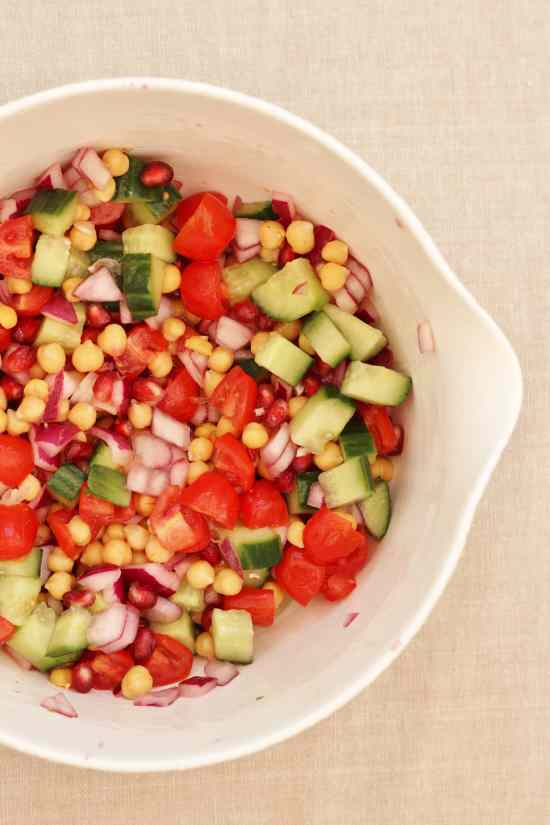 Chickpea and Pomegranate Salad