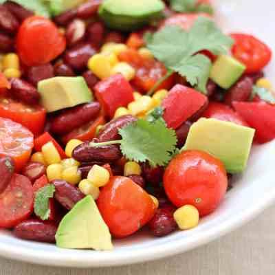 5 Minute Mexican Salad (Vegan)