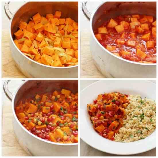 Harissa, Sweet Potato and Chickpea Tagine