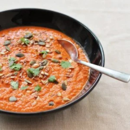 Life Changing Spicy Tomato Soup from Ready Steady Glow by Madeleine Shaw
