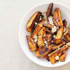 Roasted Sweet Potato with Flaked Almonds from Ready Steady Glow by Madeleine Shaw
