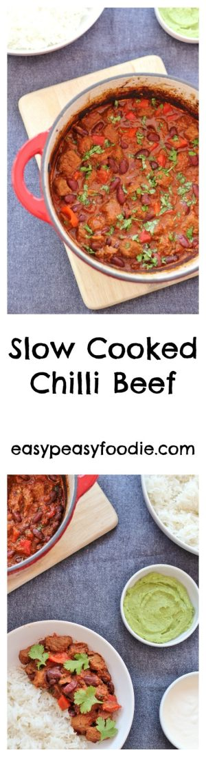 Slow Cooked Chilli Beef - easypeasyfoodie.com