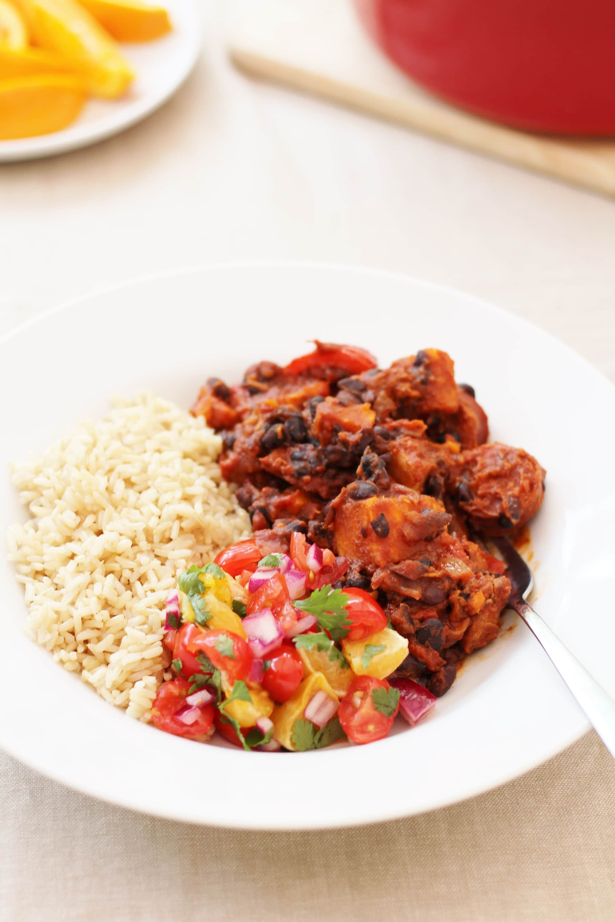 Easy brazilian feijoada with orange and tomato salsa easy peasy foodie easy brazilian feijoada forumfinder Image collections