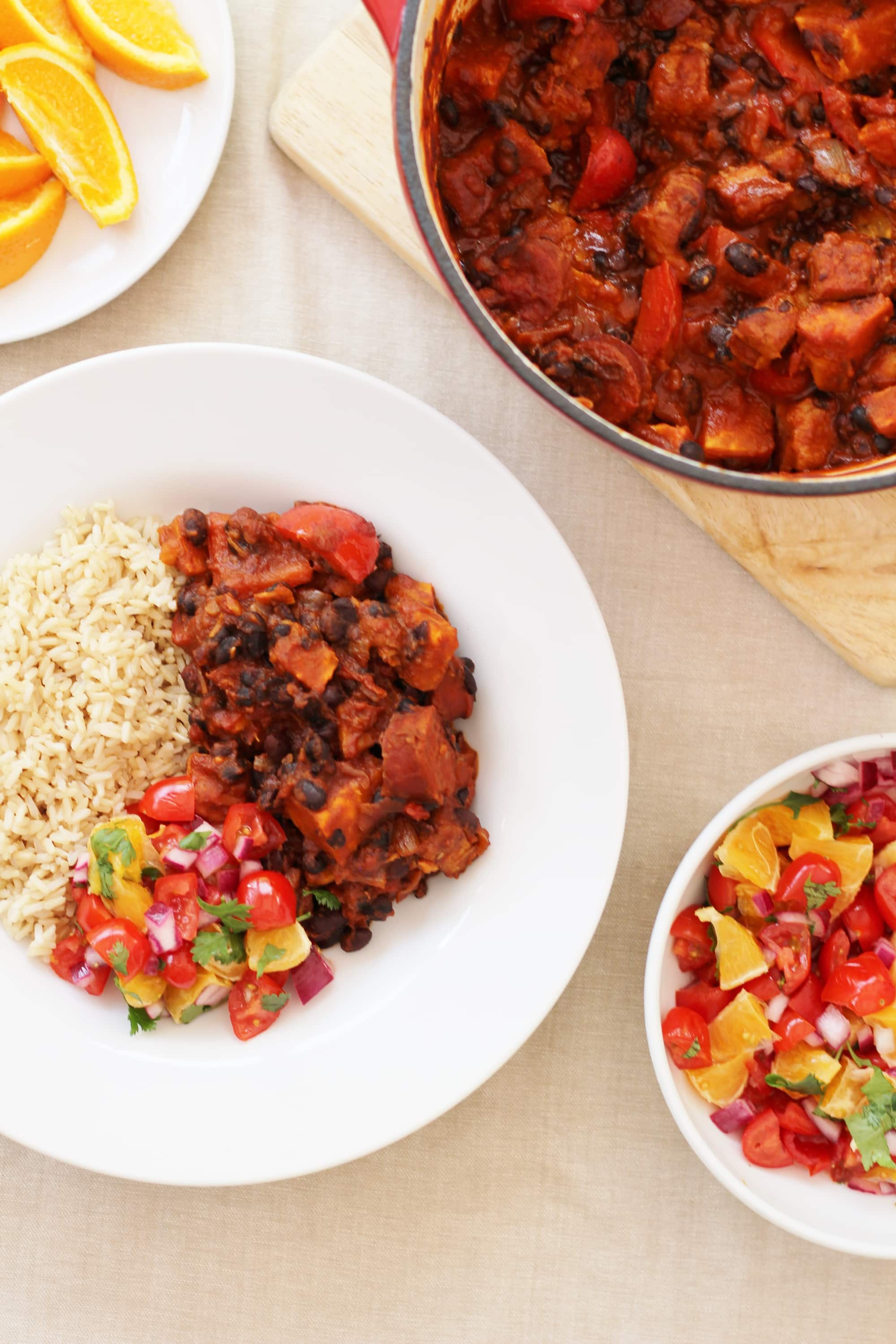 Easy brazilian feijoada with orange and tomato salsa easy peasy foodie easy brazilian feijoada forumfinder Images