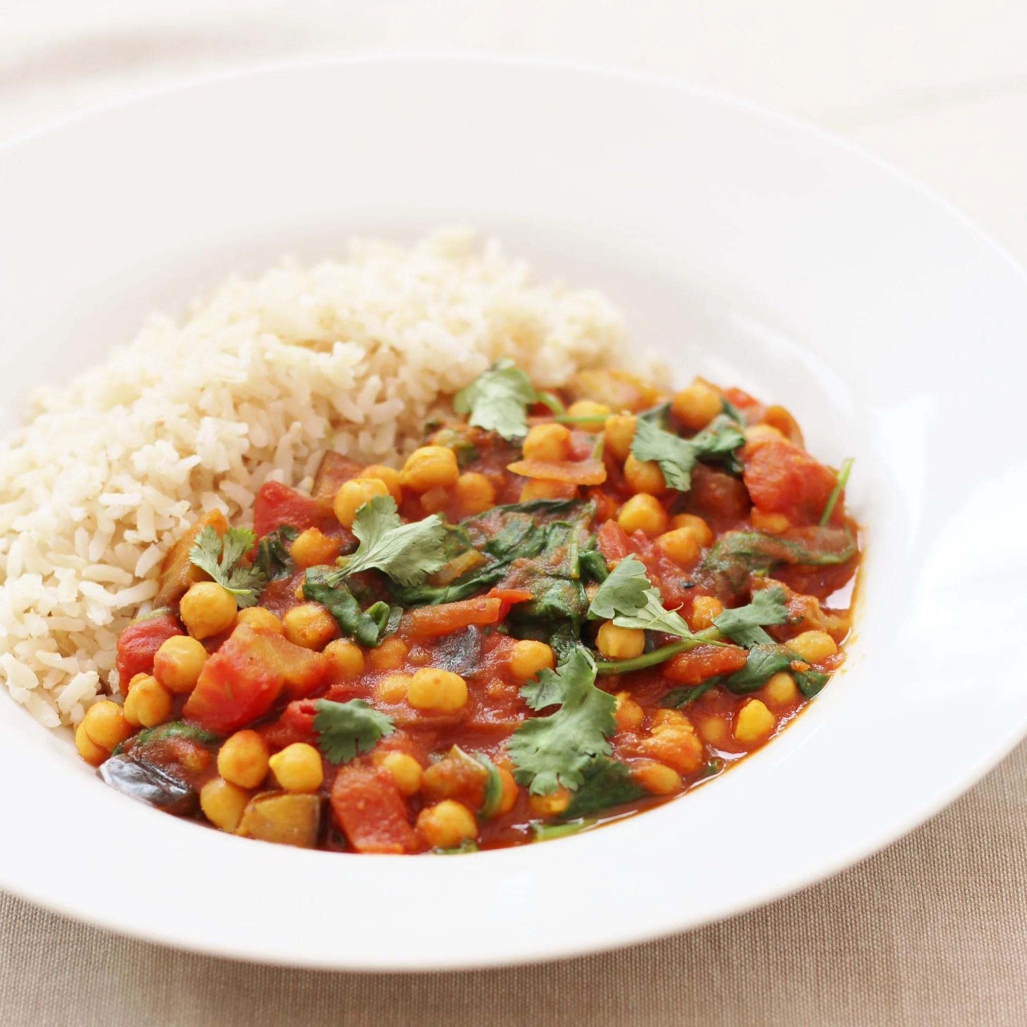 recipe: aubergine spinach curry coconut milk [34]