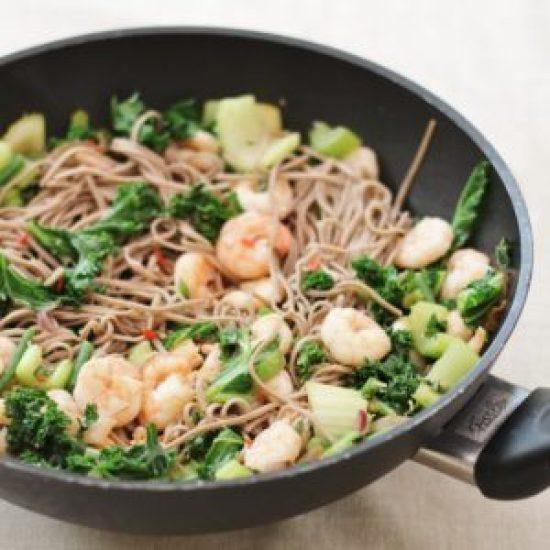 King Prawn Stir Fry with Buckwheat Noodles
