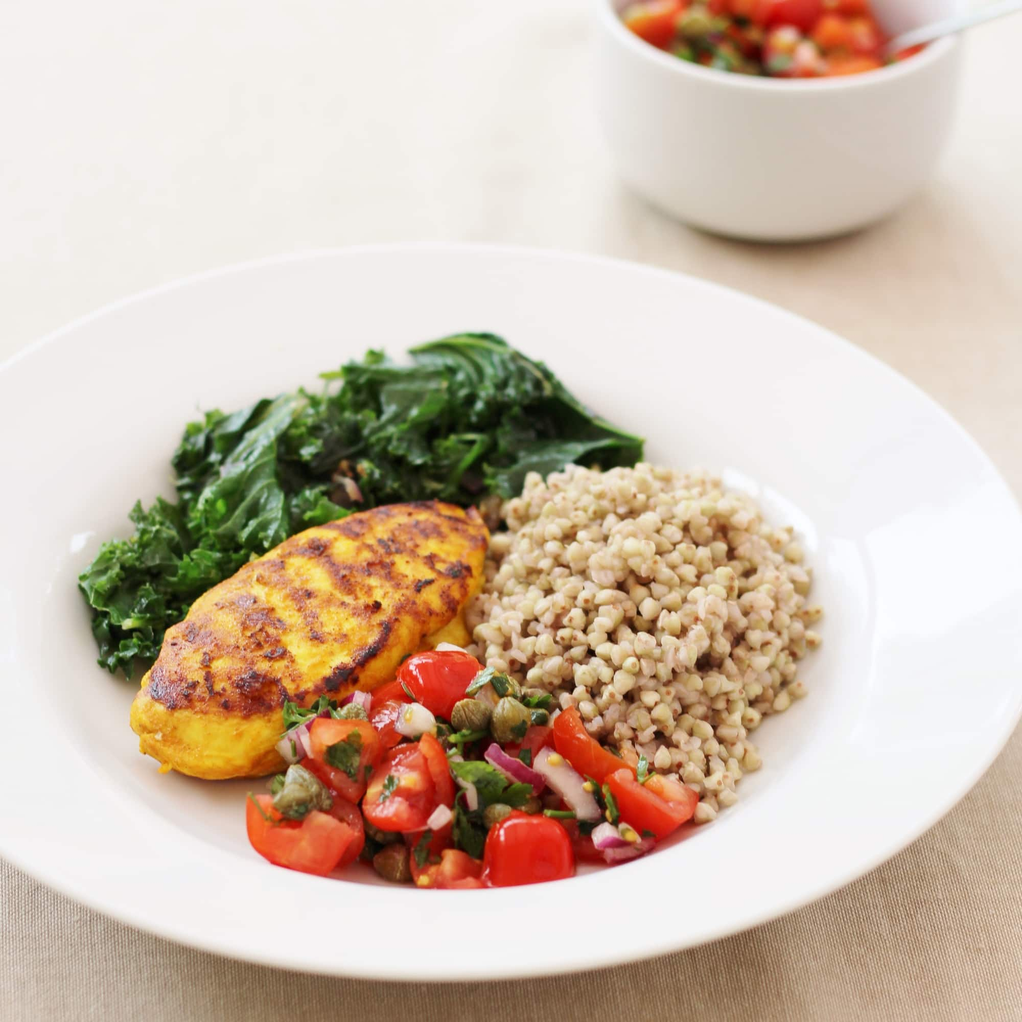 What is the sirtfood diet and does it really work part 2 easy aromatic chicken breast with kale and red onions and a tomato and chilli salsa from the forumfinder Choice Image