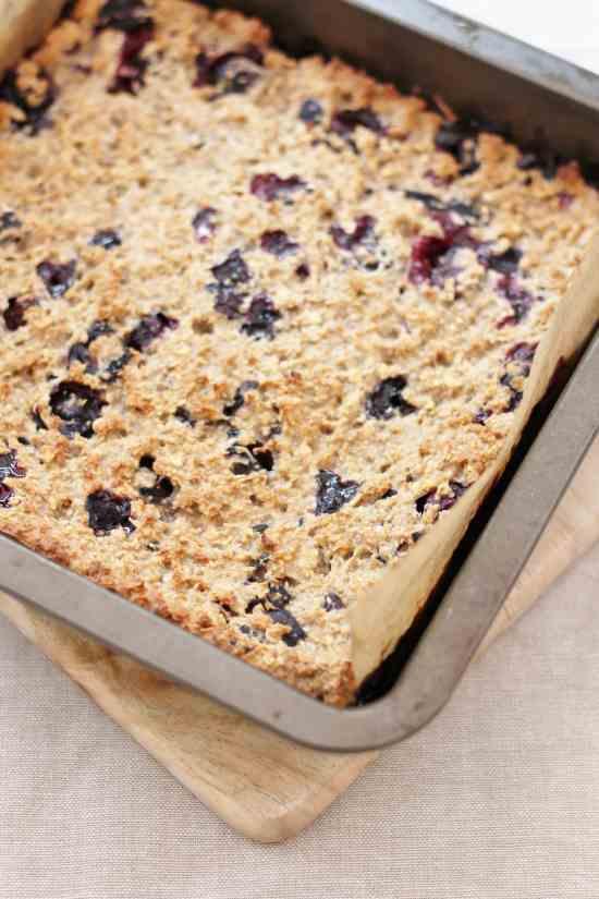 Blueberry Porridge Squares